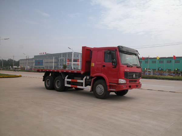 中国重汽豪沃后双桥平板运输车