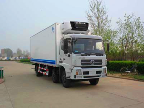 东风天锦小三轴8.4米冷藏车,冷藏车