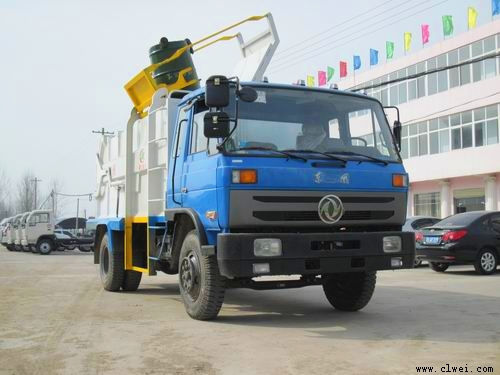 东风145侧装压缩式垃圾车