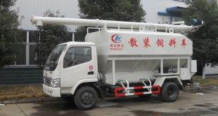 东风福瑞卡散装饲料车(4吨)
