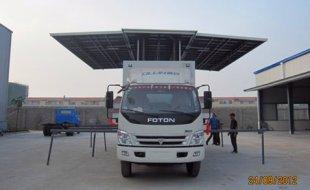 福田两面展开式42平米舞台车