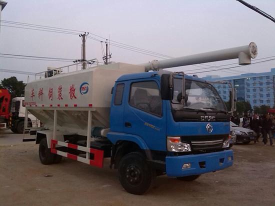 东风劲卡散装饲料运输车(蓝色)