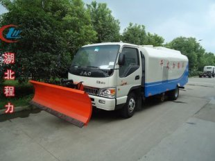 江淮带雪铲纯吸式扫地车