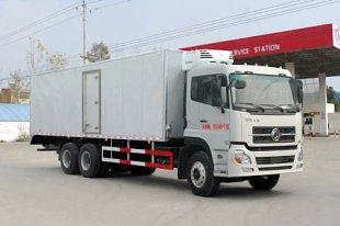 东风天龙后双桥冷藏车(国四7.5米冷藏车),冷藏车