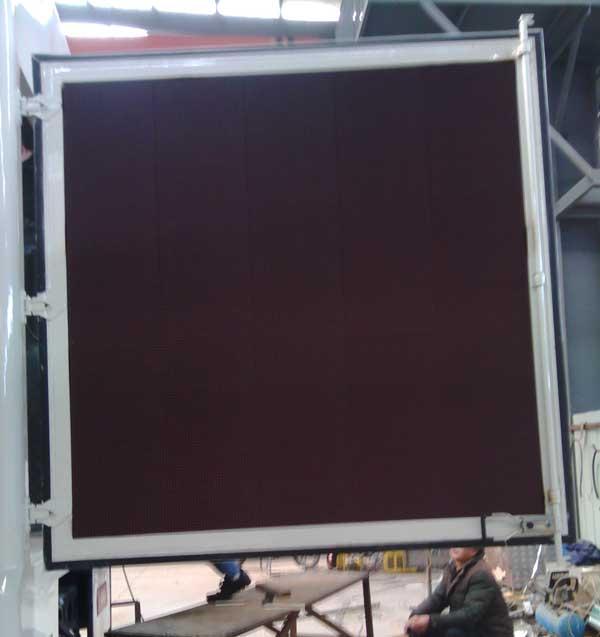 LED广告宣传车尾部单色字幕屏