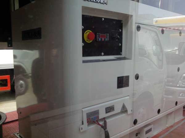 LED宣传车使用德国进口欧玛柴油发电机组