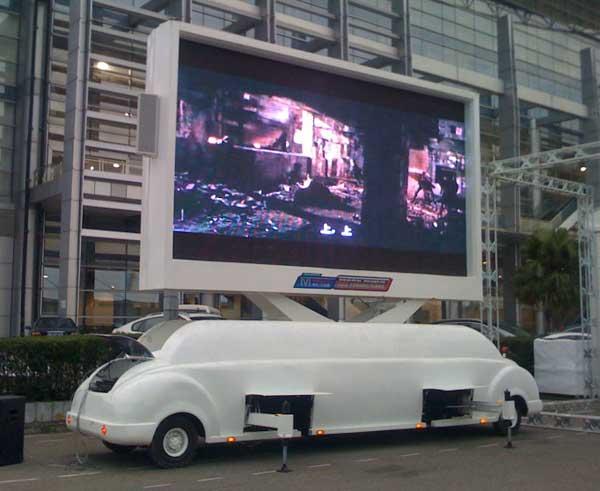 牵引式户外LED广告车