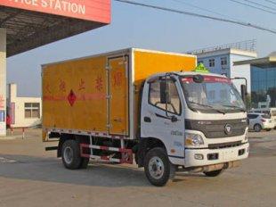 福田欧马可易燃气体厢式运输车(4.15米)