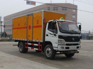 福田欧马可易燃气体厢式运输车(5.13米)
