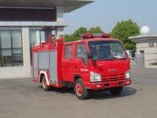 庆铃五十铃2吨水罐消防车(2方),消防车