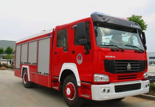豪沃8吨水罐消防车(8立方)