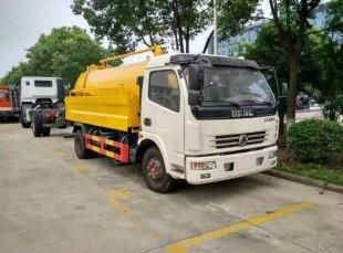 东风多利卡高压清洗吸污车(2吨水5吨吸污)