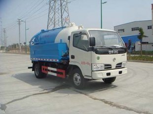 合二为一:可以上蓝牌的清洗吸污车——东风小型清洗吸污车