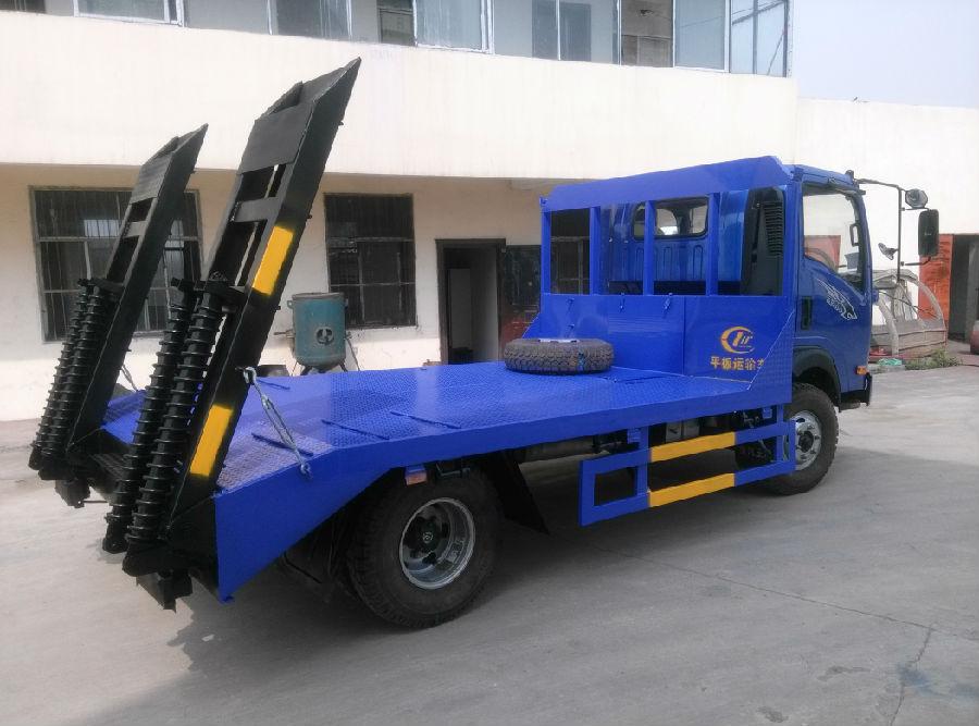 重汽王牌蓝牌平板运输车