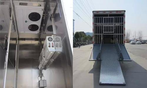 畜禽运输车喷淋系统及进出通道