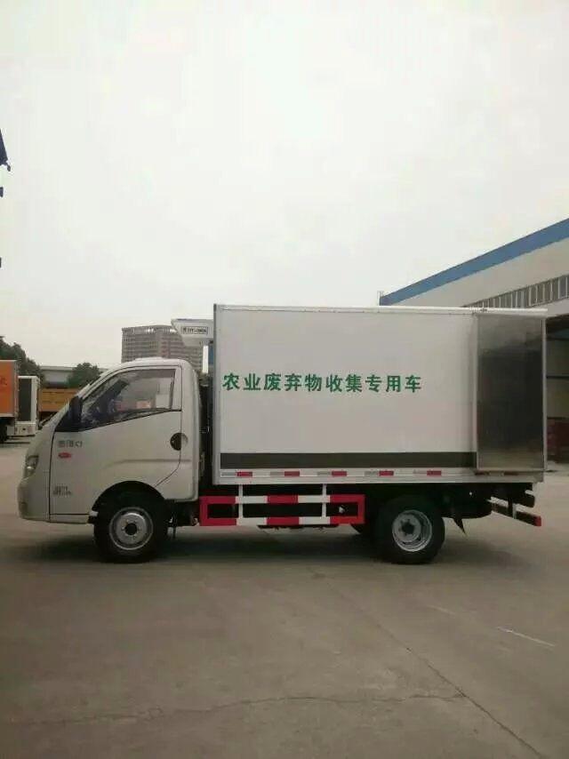 福田康瑞k1废弃物收集专用车侧视图