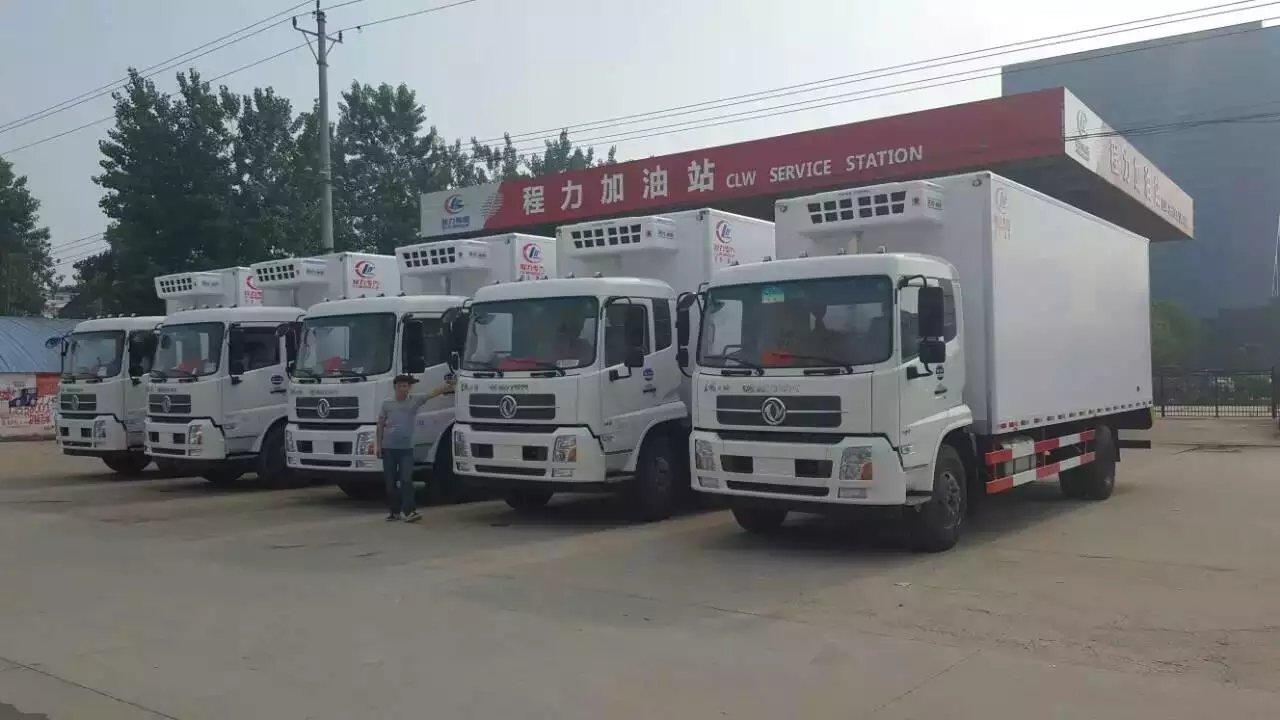 东风天锦冷藏车批量出厂