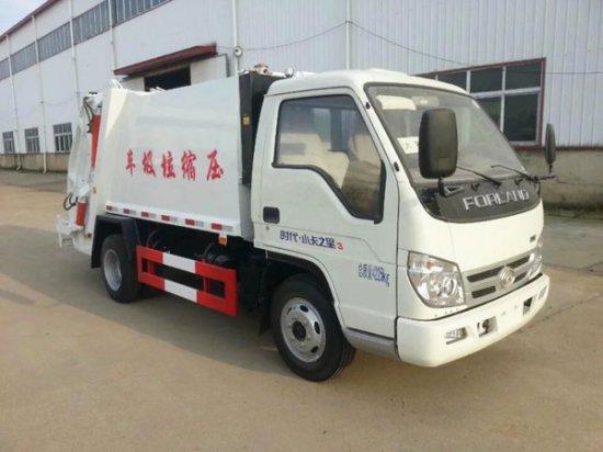 福田3吨压缩式垃圾车(蓝牌),压缩式垃圾车