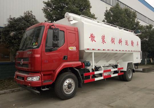 柳汽乘龙15吨散装饲料运输车