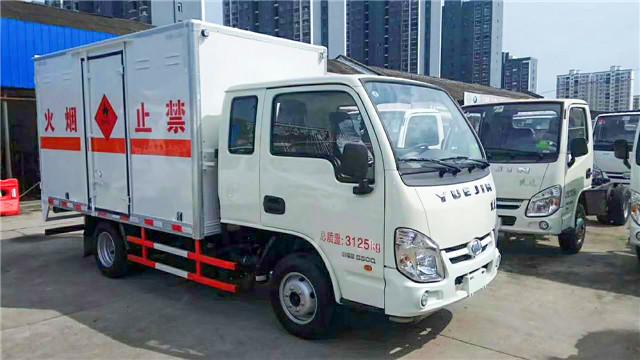 跃进小福田易燃气体厢式运输车图片