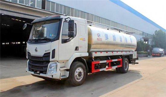 东风柳汽15方鲜奶运输车,鲜奶运输车