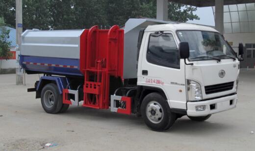 一汽解放红塔挂桶式垃圾车(自装卸式垃圾车)