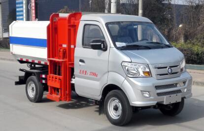 重汽王牌挂桶式垃圾车(4方)
