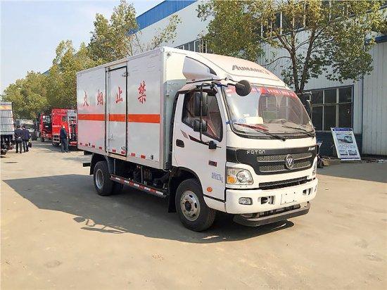 福田欧马可易燃气体厢式运输车(5.08米)