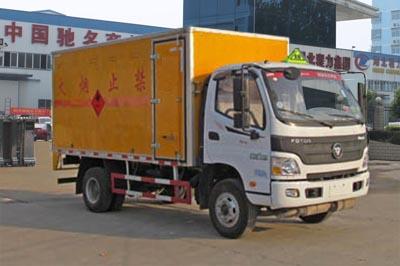 福田欧马可易燃液体厢式运输车(4.05米)