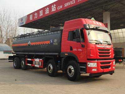 解放前四后六腐蚀性物品罐式运输车(18.5方),化工运输车