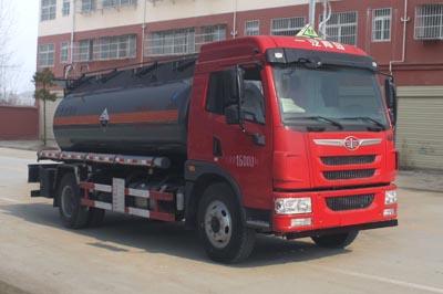 解放龙V腐蚀性物品罐式运输车(9方)