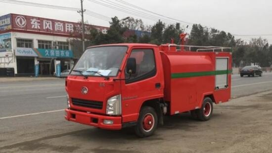解放霸铃小型消防洒水车(2吨)