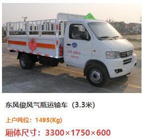 东风俊风气瓶运输车