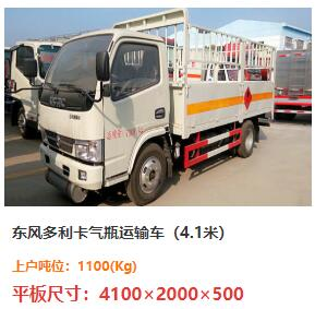 东风小多利卡气瓶运输车(蓝牌)