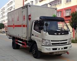 时风易燃气体厢式运输车(5.1米),易燃气体厢式运输车