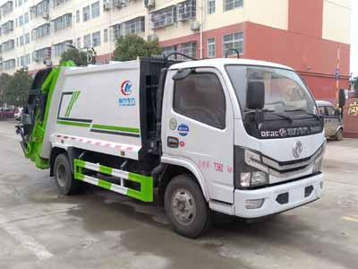 国六东风多利卡6方压缩式垃圾车