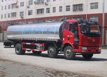 解放J6前四后四鲜奶运输车(19.5方)