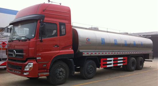 东风天龙前四后八鲜奶运输车(23方)