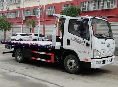 解放J6F蓝牌平板清障车(国六)