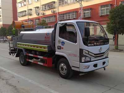 国六东风5吨抑尘车,抑尘车
