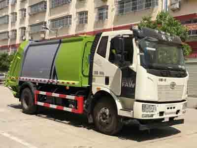 国六解放J6高端压缩式垃圾车