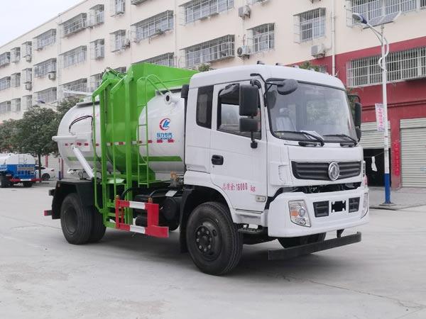 东风专用罐式圆形餐厨垃圾车