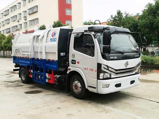 国六东风多利卡侧装挂桶式压缩垃圾车