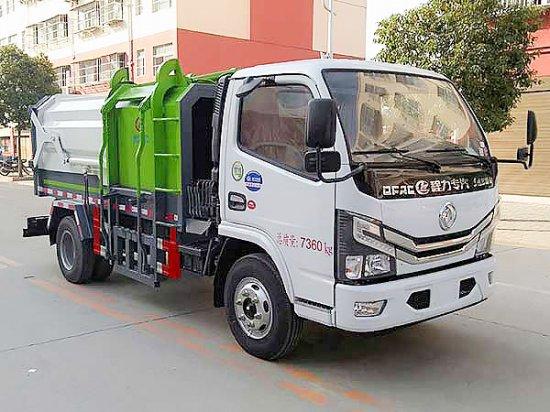 国六东风小多利卡侧装挂桶压缩式垃圾车