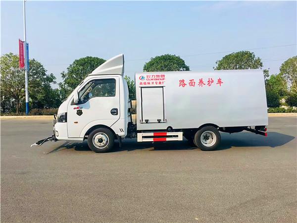 东风途逸国六人行道养护车图片