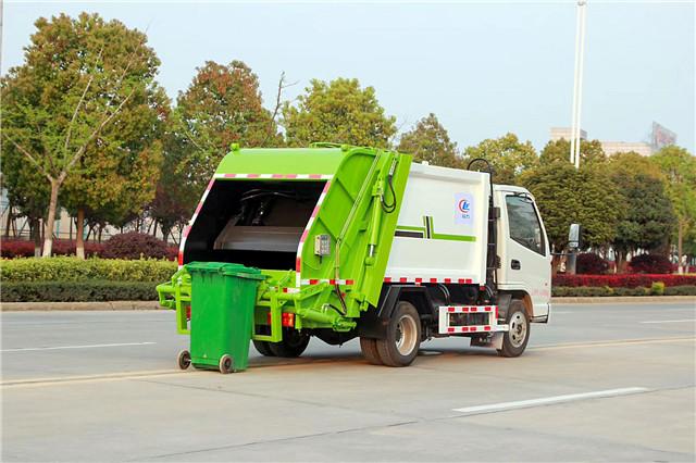 凯马蓝牌压缩式垃圾车图片