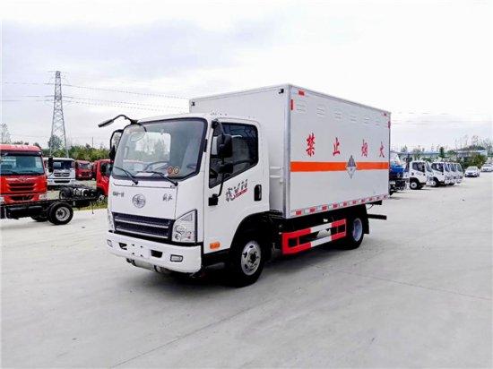 解放虎V杂项危险物品厢式运输车(蓝牌),杂项危险物品运输车