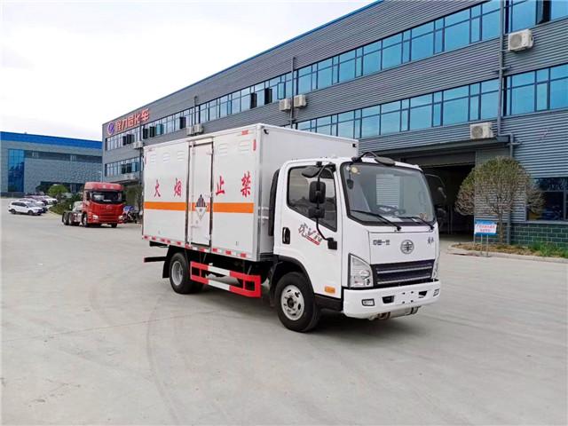 解放虎V蓝牌杂项危险物品厢式运输车图片