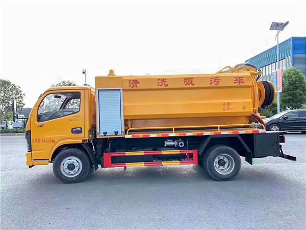 国六东风小多利卡清洗吸污车图片