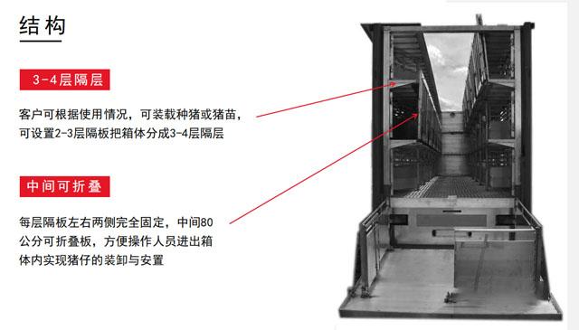 全铝合金高端畜禽运输车可分三层四层
